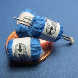 3 Balls of Blue Knitting Yarn