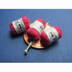 3 Balls of Red Knitting Yarn