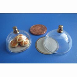 Glass Food Dome with Stailess Steel Platter