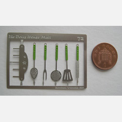 Kitchen Utensils Kit with Green Handles