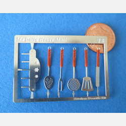 Kitchen Utensils Kit wth Orange Handles