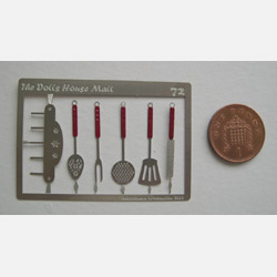 Kitchen Utensils Kit with Red Handles