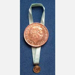 Winners Medal on Green Ribbon