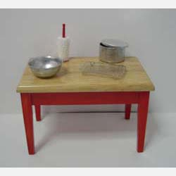 Red Kitchen Table plus Accessories