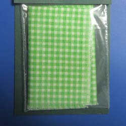 Green Gingham Tablecloth