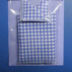 Perriwinkle Gingham Tablecloth  plus 2 Table Napkins