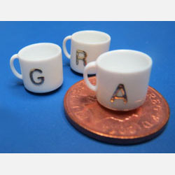 Mug with Gold Initial       A to Z