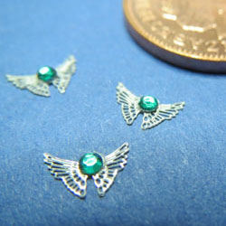 Emerald Butterfly Brooch x 1