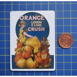 Orange Crush Tin Sign with Magnet