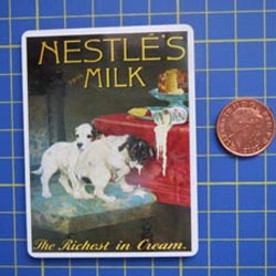 Nestles Tin Sign with Magnet