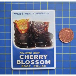 Cherry Blossom Tin Sign with Magnet