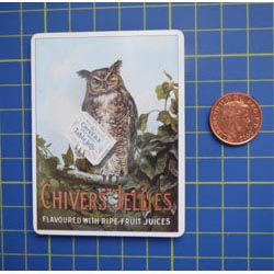 Chivers Owl Tin Sign with Magnet
