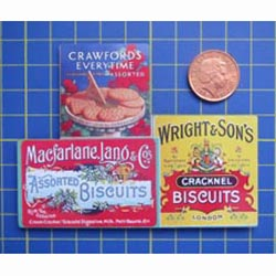 Biscuit 'A' Tin Sign with Magnet