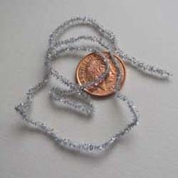 Silver Soft Christmas Tinsel....2mm x 12""