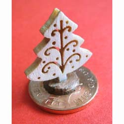 Wooden Christmas Tree Ornament - Natural