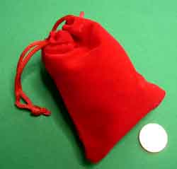 Red Velvetine Christmas Sack