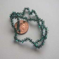 Green Soft Christmas Tinsel....4mm x 12""